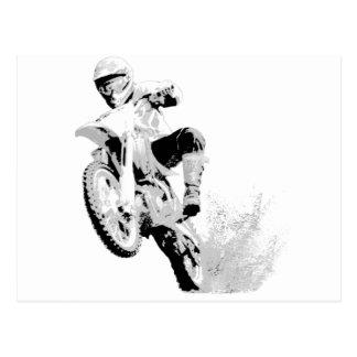 Dirt Bike Wheeling in the Mud Postcard