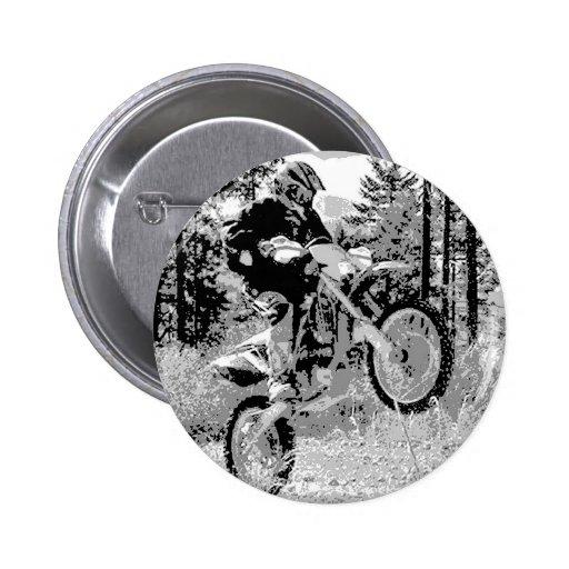 Dirt bike wheeling in the woods button