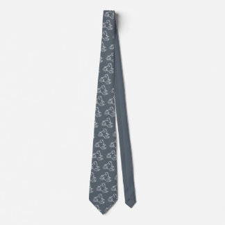 DIRT BIKE ( white scribble ) Neck Tie