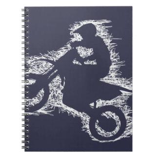 DIRT BIKE ( white scribble ) Notebook