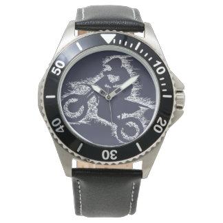 DIRT BIKE ( white scribble ) Wristwatch