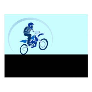 Dirt Biker Vector Biking Postcard