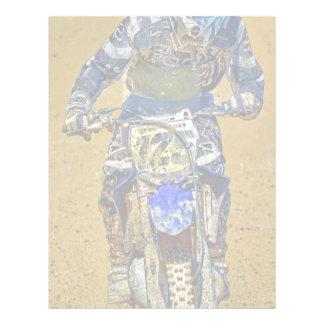 Dirt-Biking Moto-X Champ Designer #Gift Letterhead