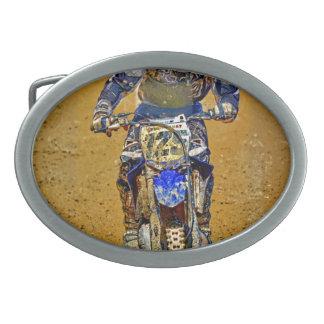 Dirt-Biking Moto-X Champ Designer #Gift Oval Belt Buckle