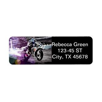 dirt biking motocross racing Motorcycle biker Label