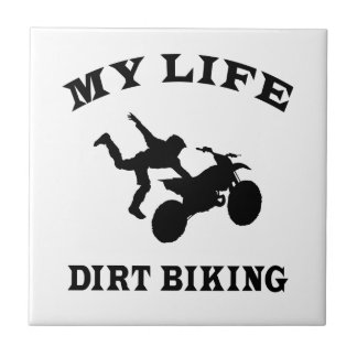Dirt Biking My Life Small Square Tile