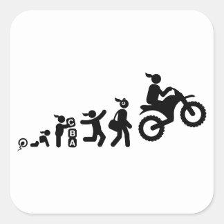 Dirt Biking Square Sticker