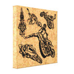 Dirt Biking Wrapped Canvas Gallery Wrapped Canvas
