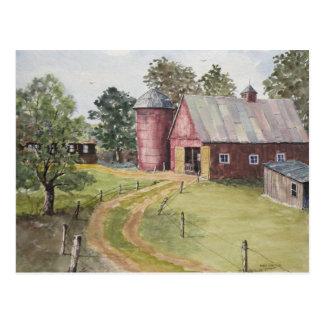 Dirt Drive Barn Postcard