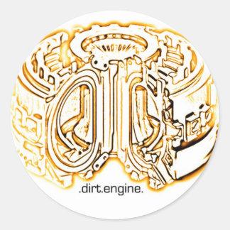 dirt engine classic round sticker
