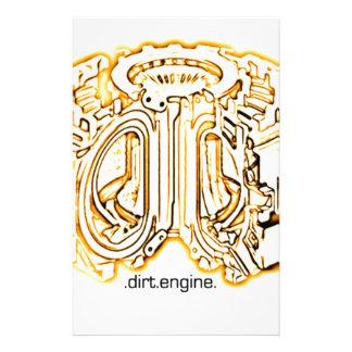 dirt engine custom stationery
