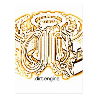 dirt engine postcard