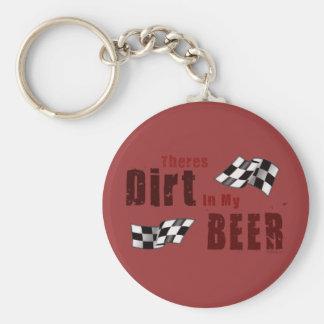 Dirt in Beer Keychain