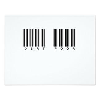 DIRT POOR 4.25X5.5 PAPER INVITATION CARD
