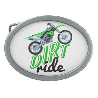 Dirt racer belt buckles