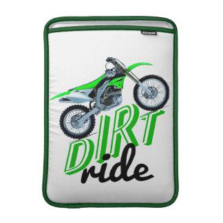 Dirt racer MacBook sleeves