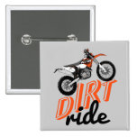 Dirt racing 2 inch square button