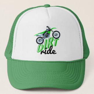 Dirt racing bike trucker hat