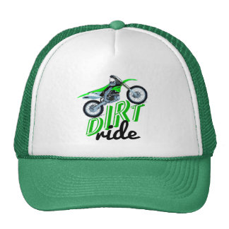 Dirt racing bike trucker hat