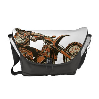 Dirt racing madness courier bag