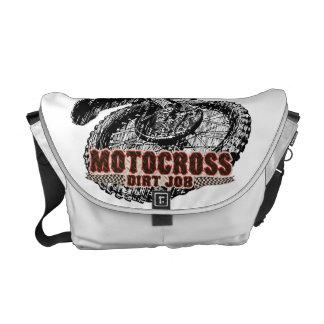 Dirt racing messenger bags