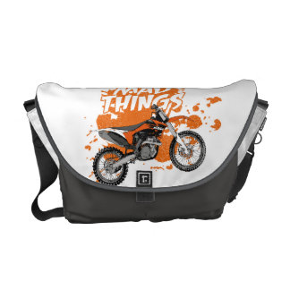 Dirt racing courier bags