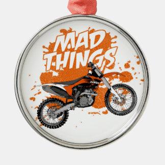 Dirt racing metal ornament