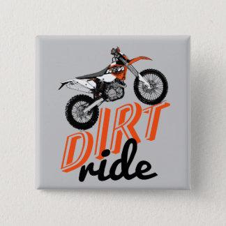 Dirt racing pinback button