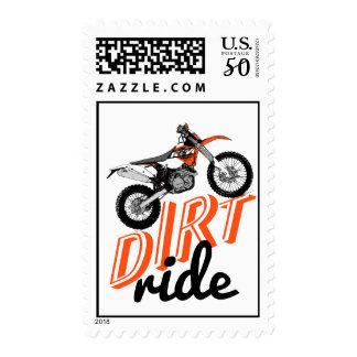 Dirt racing team postage