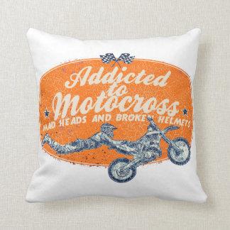 Dirt racing team throw pillow