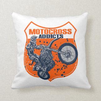 Dirt racing throw pillow