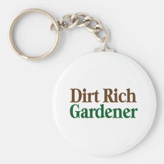 Dirt Rich Gardener Basic Round Button Keychain