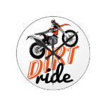 Dirt ride round wallclock
