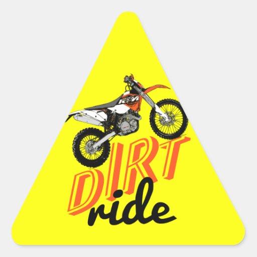 Dirt ride triangle sticker
