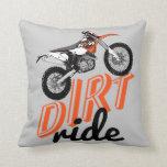Dirt riders throw pillow