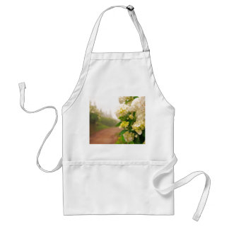 Dirt road and hydrangeas adult apron