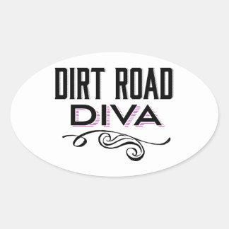 Dirt Road Diva Oval Sticker