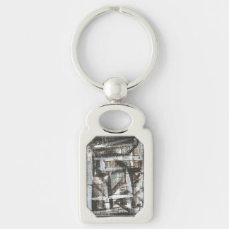 Dirt Road-Hand Painted Abstract Brushstrokes Keychain
