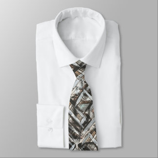 Dirt Road-Hand Painted Abstract Brushstrokes Neck Tie
