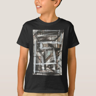 Dirt Road-Hand Painted Abstract Brushstrokes T-Shirt