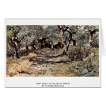 Dirt Road In The Olive Grove By Fattori Giovanni Greeting Card