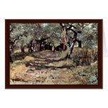 Dirt Road In The Olive Grove By Fattori Giovanni Card