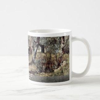 Dirt Road In The Olive Grove By Fattori Giovanni Classic White Coffee Mug