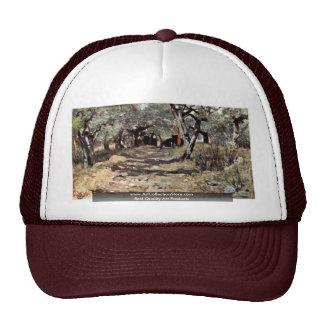 Dirt Road In The Olive Grove By Fattori Giovanni Trucker Hat