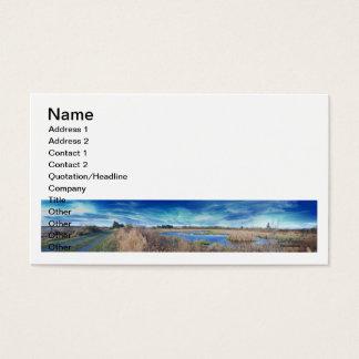 Dirt Road Panorama Business Card