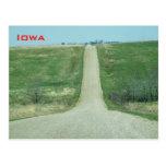 Dirt road - rural Iowa Postcard