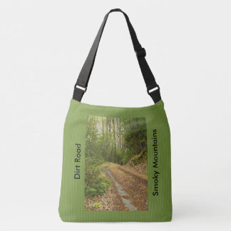Dirt Road Smoky Mountains Spring Morning Picture Crossbody Bag