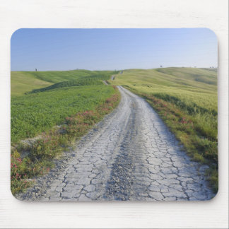 Dirt Road through Fields and Hills, Val d'Orcia, Mouse Pad