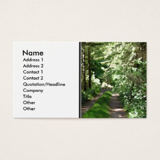Dirt Track Through Trees. Business Card