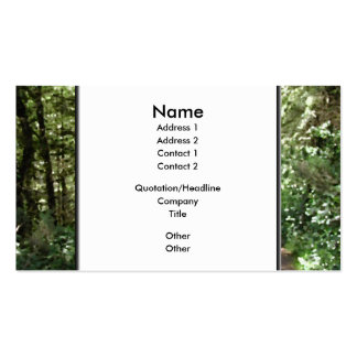 Dirt Track Through Trees Business Card Templates